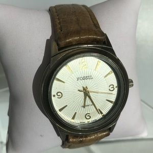 Vintage Fossil World Watch